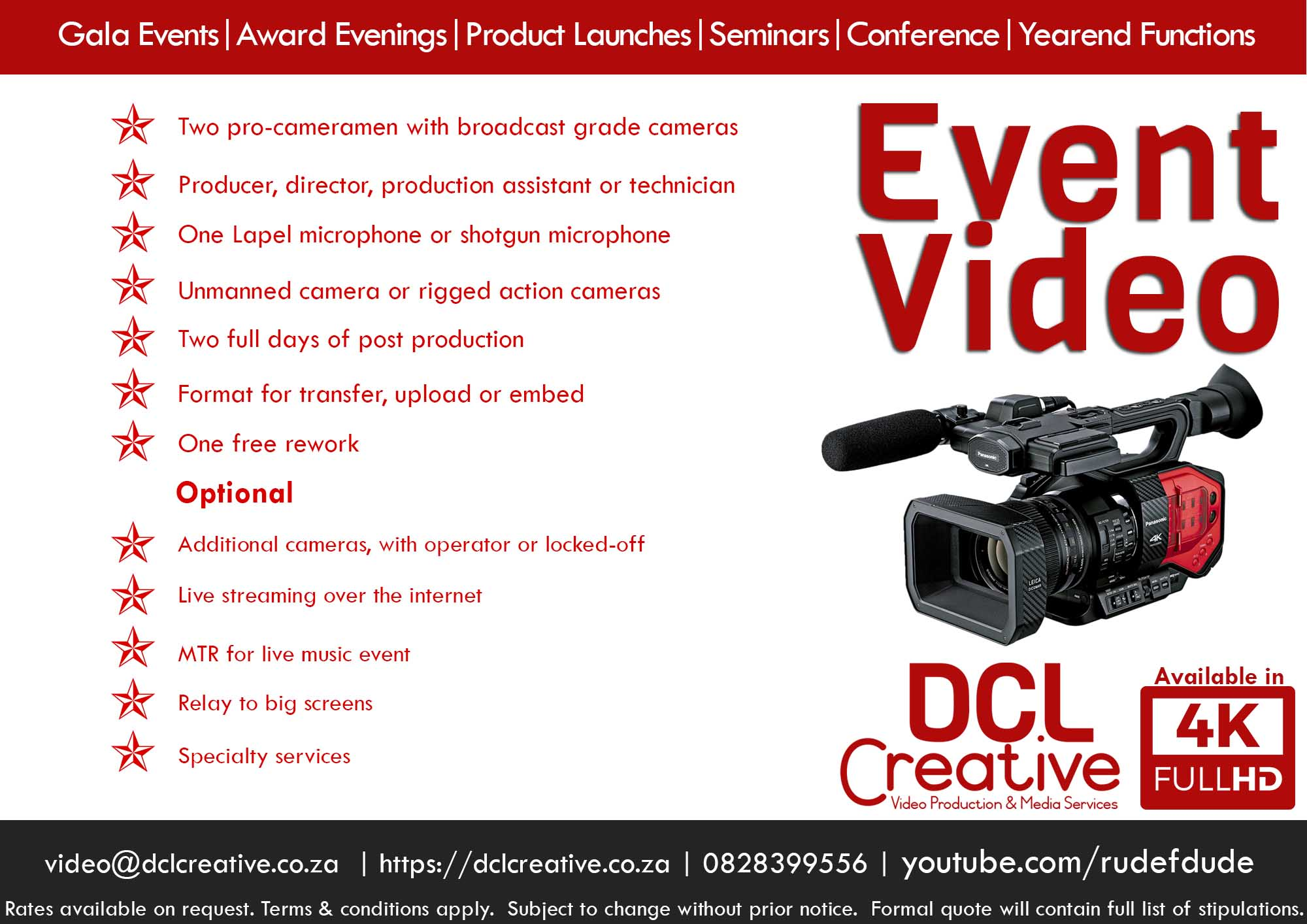 Corporate event video with live streaming webinar