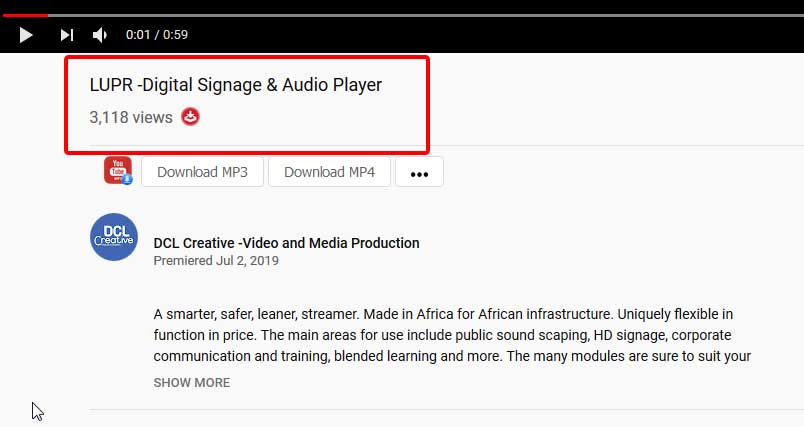 update v-LUPR -Digital Signage & Audio Player - YouTube